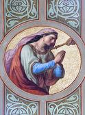 VIENNA - JULY 27: Fresco of Dalila woman of Samson from 19. cent. in Altlerchenfelder church on July 27, 2013 Vienna. — Stockfoto