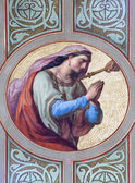 VIENNA - JULY 27: Fresco of Dalila woman of Samson from 19. cent. in Altlerchenfelder church on July 27, 2013 Vienna. — Stock Photo