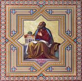 VIENNA - JULY 27: Fresco of Zachariah prophets from 19. cent. by Carl Mayer in Altlerchenfelder church on July 27, 2013 Vienna. — Stock Photo