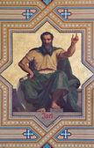 VIENNA - JULY 27: Fresco of Amos prophets by Carl von Blaas from 19. cent. in Altlerchenfelder church on July 27, 2013 Vienna. — Stock Photo