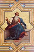 VIENNA - JULY 27: Fresco of Amos prophets by Karl von Blaas from 19. cent. in Altlerchenfelder church on July 27, 2013 Vienna. — Stock Photo
