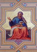 VIENNA - JULY 27: Fresco of Malachi prophets from 19. cent. by Carl Mayer in Altlerchenfelder church on July 27, 2013 Vienna. — Stockfoto