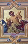 VIENNA - JULY 27: Fresco of prophet Jonah by Carl Mayer from 19. cent. in Altlerchenfelder church on July 27, 2013 Vienna. — Stock Photo