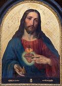 Vienne - 27 juillet : cœur de peinture de Jésus de l'autel du côté du baroque de l'église maria treu du 18. cent. sur 27 juillet 2013 Vienne. — Photo