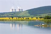 Hron river and nuclear power plant Mochovce - Slovakia — Stock Photo