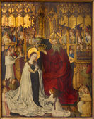 VIENNA - JULY 3: Coronation of holy Mary from year 1350 on July 3, 2013 Vienna. — Stock Photo