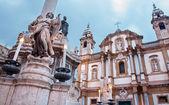 Chiesa di palermo - san domenico - saint dominic e colonna barocca — Foto Stock