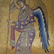 PALERMO - APRIL 8: Mosaic of Archangel Gabriel from Church of Santa Maria dell' Ammiraglio or La Martorana from 12. cent. on April 8, 2013 in Palermo, Italy. — Stock Photo