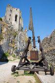 Bečove zamek - słowacja - wschodnia fasada kaplicy — Zdjęcie stockowe