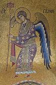 PALERMO - APRIL 8: Mosaic of Archangel Gabriel from Church of Santa Maria dell' Ammiraglio or La Martorana from 12. cent. on April 8, 2013 in Palermo, Italy. — Stock Photo