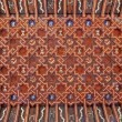 Stock Photo: TOLEDO - MARCH 8: Ceiling of atrium of Monasterio SJude los Reyes or Monastery of Saint John of Kings in mudejar style on March 8, 2013 in Toledo, Spain.