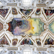 Stock Photo: PALERMO - APRIL 8: Modern fresco of Last judgment by Frederico Spoltoze from year 1954 and oder works on ceiling of church Lchiesdel Gesu or CasProfessa.on April 8, 2013 in Palermo, Italy.