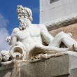 Madrid - Neptune statue from Philip IV of Spain memorial — Stock Photo