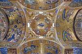 PALERMO - APRIL 8: Byzantine mosaic from Church of Santa Maria dell' Ammiraglio or La Martorana from 12. cent. on April 8, 2013 in Palermo, Italy. — Stock Photo