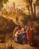 GENT - JUNE 23: Christ healing the blind men on the road to Jericho. Paint from Pieter Norbert van Reysschoot (1738 - 1795) in st. Peters church on June 23, 2012 in Gent, Belgium. — Photo