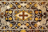PALERMO - APRIL 9: Detail of baroque mosaic from side altar in Monreale cathedral. Church is wonderful example of Norman architecture on April 9, 2013 in Palermo, Italy. — Stock Photo