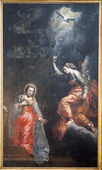 BRUSSELS - JUNE 21: Annunciation by unknow autor from 17. cent. in church of Saint John the Baptist on June 21, 2012 in Brussels. — Stock Photo