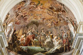 PALERMO - APRIL 8: Fresco from main apse of cathedral or Duomo by Mariano Rossi 1802. Scene as Robert Guiscard and Roger I return the Church to the Bishop Nicodemus on April 8, 2013 in Palermo, Italy. — Stock Photo