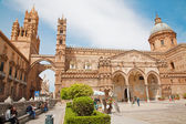 Palermo - South portal of Cathedral or Duomo and west towers — Stock fotografie