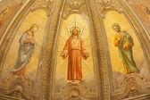 VERONA - JANUARY 28: Fresco of Resurrected Jesus from main apse of church Santa Eufemia on January 28, 2013 in Verona, Italy. — Stock Photo