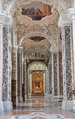 PALERMO - APRIL 8: Side nave in church La chiesa del Gesu or Casa Professa. Baroque church was completed in year 1636 on April 8, 2013 in Palermo, Italy. — Stock Photo