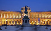 Vienna - national library in the winter dusk — Stock Photo