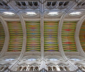 MADRID - MARCH 10: Modern frescos from ceiling of Santa Maria la Real de La Almudena cathedral in March 10, 2013 in Spain. — Stock fotografie