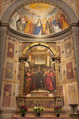 VERONA - JANUARY 27: Chapel Miniscalchi in Saint Anastasia's church from year 1506 designed by Angelo di Giovanni with main scene of the Pentecost on January 27, 2013 in Verona, Italy. — Foto Stock