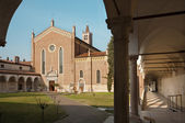 Verona - San Bernardino church and atrium — 图库照片