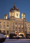 Wiedeń - muzeum historii sztuki w zimowych eveing — Zdjęcie stockowe