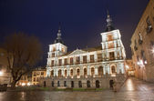 Toledo - town hall in evening dusk — Stock Photo