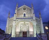 Madrid - gothic church San Jeronimo el Real in dusk — Stock Photo
