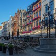 ANTWERP, BELGIUM - SEPTEMBER 5, 2013: Blauwmoezelstraat - street near the Cathedral of Our Lady in morning light. — Stock Photo #38947031