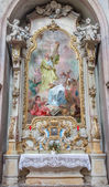 JASOV - JANUARY 2: Baroque side altar and paint of st. Andrew and st. John the Nepomuk by J. L. Kracker (1752 - 1776) from Premonstratesian cloister in Jasov on January 2, 2014 in Jasov, Slovakia. — Stock Photo
