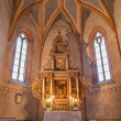 ������, ������: STITNIK DECEMBER 29: Main altar with the paints by Hans von Achen 1636 and presbytery of gothic evangelical church in Stitnik on December 29 2013 in Stitnik Slovakia
