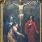 Постер, плакат: LEUVEN BELGIUM SEPTEMBER 3: Paint of Crucifixion in Sint Jan de Doperkerk on September 3 2013 in Leuven Belgium