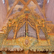 STITNIK - DECEMBER 29: Baroque organ from year 1723 in gothic evangelical church in Stitnik from 14 - 15 cent. on December 29, 2013 in Stitnik, Slovakia. — Stock Photo