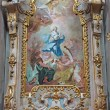 Stock Photo: JASOV - JANUARY 2: Baroque side altar and paint of Immaculate conception by Johann Lucas Kracker (1752 - 1776) from Premonstratesicloister in Jasov on January 2, 2014 in Jasov, Slovakia.