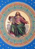 VIENNA - JULY 27: Fresco of one of the four big prophets from year 1855 by Joseph Schonman on the ceiling of side nave in Altlerchenfelder church on July 27, 2013 Vienna. — Stock Photo