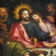Antwerp - Jesus and st. John at last supper - Jakobskerk — Stok fotoğraf