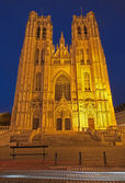 Brussels - Saint Michael and Saint Gudula gothic cathedral - wes — Stock Photo