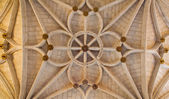 TOLEDO - MARCH 8: Gothic ceiling San Juan de los Reyes or Monastery of Saint John of the Kings on March 8, 2013 in Toledo, Spain. — Stock Photo