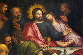 Antwerp - Jesus and st. John at last supper - Jakobskerk — Stock Photo