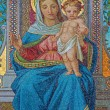 VIENNA - JULY 3: Glass mosaic of Madonna from Schottenkirche by Michael Riese from years 1883 - 1889 on July 3, 2013 Vienna. — Stock Photo