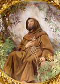 VIENNA - JULY 3: Paint of st. Francis from vestibule of Schottenkirche church on July 3, 2013 in Vienna. — Stock Photo