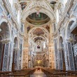 Stock Photo: PALERMO - APRIL 8: Interior of church Lchiesdel Gesu or CasProfessa. Baroque church designed by architect jesuit Giovanni Tristano was completed in year 1636 on April 8, 2013 in Palermo, Italy.
