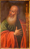 TOLEDO - MARCH 8: Paint of Saint Paul the apostle from church Iglesia de san Idefonso on March 8, 2013 in Toledo, Spain. — Stock Photo