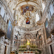 Stock Photo: PALERMO - APRIL 8: Presbytery of church Lchiesdel Gesu or CasProfessa. Baroque church designed by architect Giovanni Tristano was completed in year 1636 on April 8, 2013 in Palermo, Italy.