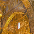 PALERMO - APRIL 8: Mosaic of Cappella Palatina - Palatine Chapel in Norman palace in style of Byzantine architecture from years 1132 - 1170 on April 8, 2013 in Palermo, Italy. — Stock Photo #39006611