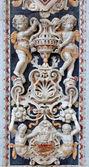 巴勒莫--4 月 8 日: 从教会拉基耶萨德尔下须或 casa 产品 / professa 的马赛克装饰的细节。巴洛克式教堂建成于 1636 年在 2013 年 4 月 8 日在意大利巴勒莫. — 图库照片
